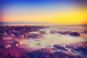 sunset in porthcawl by shauna-mullen