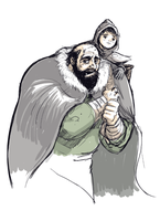 Hodor and Bran - Game of Thrones by VonDitty