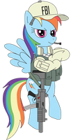 FBI Rainbow Dash by EnteringTheNethery