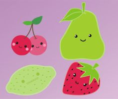 Kawaii fruits by natalia-factory