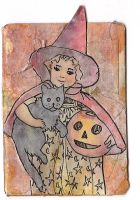 ATC Vintage Halloween Collage by claudiamm37