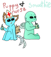 Puppy Nurse and Smoothie by duckleer