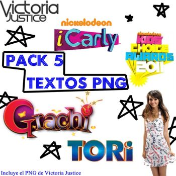 Pack 5 textos PNG by Alejandra1327