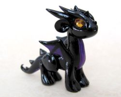 Shadow the Mini Dragon by DragonsAndBeasties