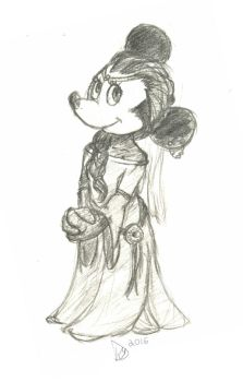 Princess Minnie Sketch by Dedechibi