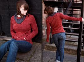 Traveling Eyelet Sweater by illuminangel