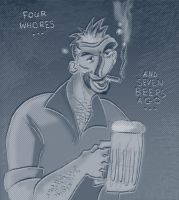 James Smith's Abe Drinkin' 2 by strawmancomics