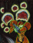 Metroid Print - COLORED by ArwingPilot114