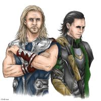 Odinsons. Colored by the-ALEF