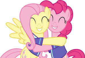 [Vector] Fluttershy and Pinkie Pie by DerAtrox