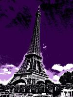 Purple Eiffel Tower by Smilkman