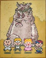 EarthBound Gang And Brickroad by Squarepainter