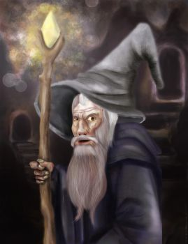 Gandalf the cantankerous by lapizlazuli-w