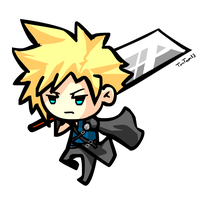 Chibi Cloud Strife by TimTam13