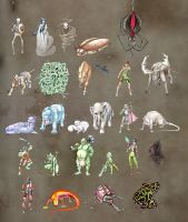 A lot of monsters Oo by 626elemental