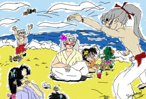 Inuyasha: Beach Fun by xPixieSoulx