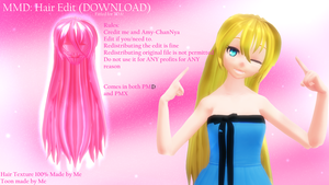 MMD: Long Hair (EDIT) by Skyler (DOWNLOAD) by PrincessSkyler
