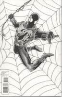 Scarlet Spider Sketch RIPBen Reilly  - Back Cover by chrismas-81