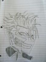 Grimmjow Sketch by Zaraki333