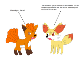 Vulpix VS Fennekin by Kitsune257
