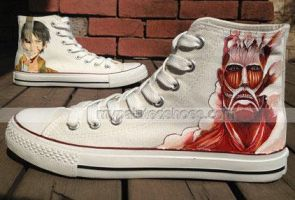 Attack On Titan Shoes Christmas Anime Attack On Ti by ajdv