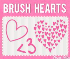 Brush Hearts by NoemiTutos