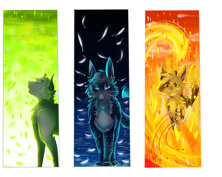 Power Of 3 redraw (bookmarks) by Aryll-nya
