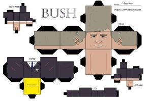 George Bush by Cubee-acres