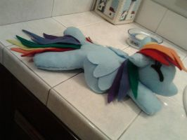 Rainbow Dash Plushie by LittleRedLover