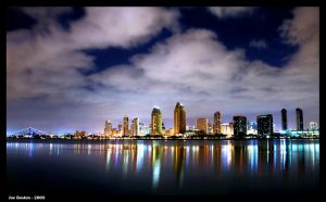 San Diego Night Scene by JoeBostonPhotography