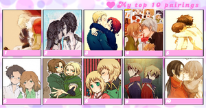 My Top 10 Fave Hetalia Pairings~! by percabethshipper22