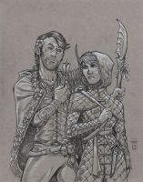 Drakkis and Elewen by Everwho