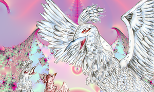 White Phoenix -updated fractal by Sulfura