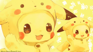 Wallpaper Pikachu by marcoshypnos