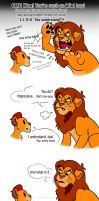 Simba Scolds Kion by RFakonWolf