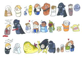 Original Trilogy Blobbies by Allison-beriyani