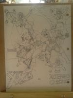 Altered Classic feat. The Uncanny X-Men (inked) by dhbraley