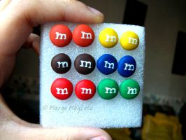 M and M Earrings by margemagtoto