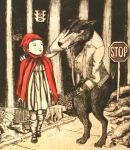 Red and Big Bad Wolf by stephbloomer