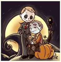 The Pumpkin King and his doll by GorryBear