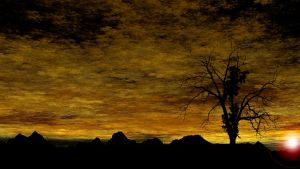 Sunset Silhouette by cmcougar