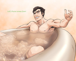 LoK [Bolin] Bubble Bath by FrailElement