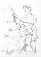 Rey Sketch by RV1994