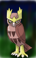 Noctowl stare by tuxman20
