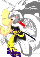 Gargoyles: Sesshomaru by DogDemonAbridged12