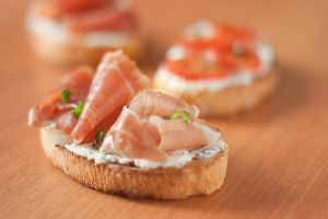Bruschetta with Prosciutto by BeKaphoto