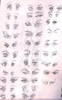 anime eyes practice by kyupol