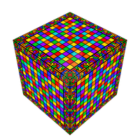 Very colorful cube by Manroose