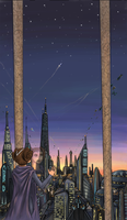Padme on Coruscant by blackbirdsfly