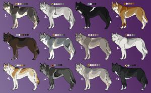Wolf Customs batch by Nature-Ridge-Adopts